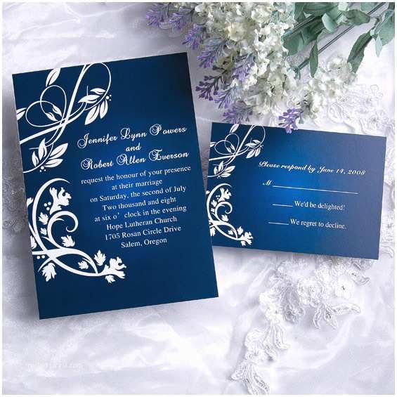 Blue Wedding Invitations Royal Blue Wedding Ideas and Wedding Invitations