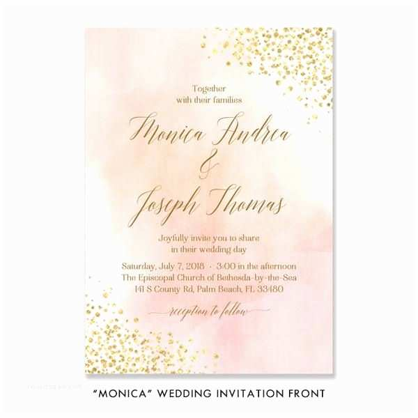 Blush and Gold Wedding Invitations Best 25 Gold Wedding Invitation Sets Ideas On Pinterest