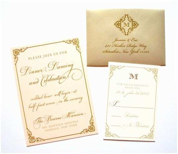 Blush and Gold Wedding Invitations Blush and Gold Wedding Invitations Blush Gold Champagne