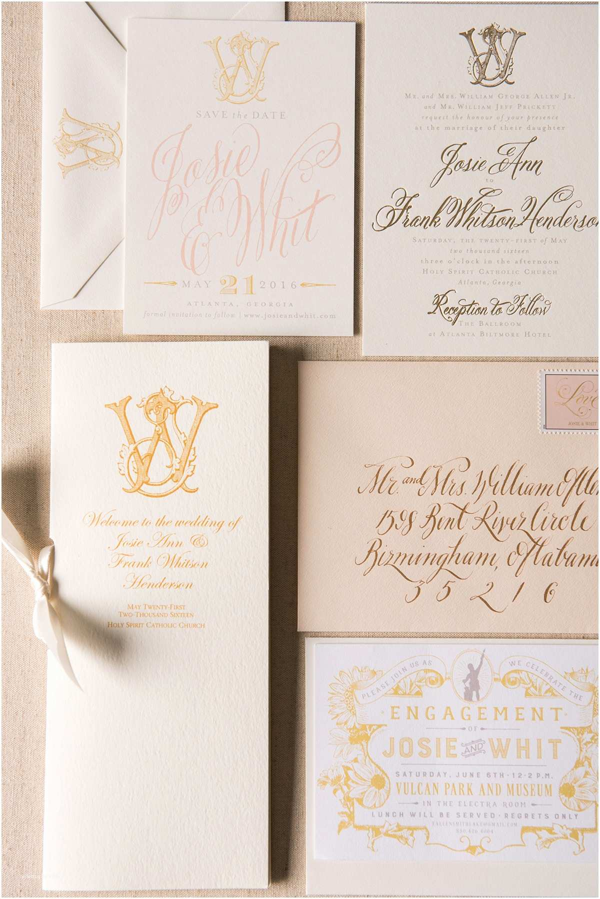 Blush and Gold Wedding Invitations Blush and Gold Wedding Invitations Elizabeth Anne