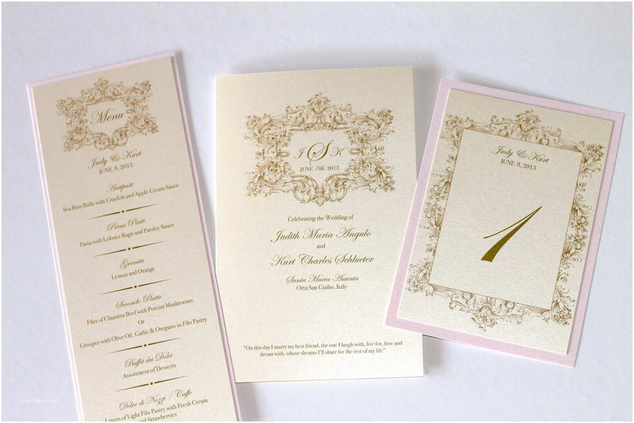 Blush and Gold Wedding Invitations Embellished Paperie Vintage Wedding Invitations In Ivory