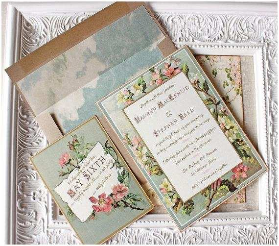 Blush and Gold Wedding Invitations Vintage Floral Frame Wedding Invitation Blush Pink Antique