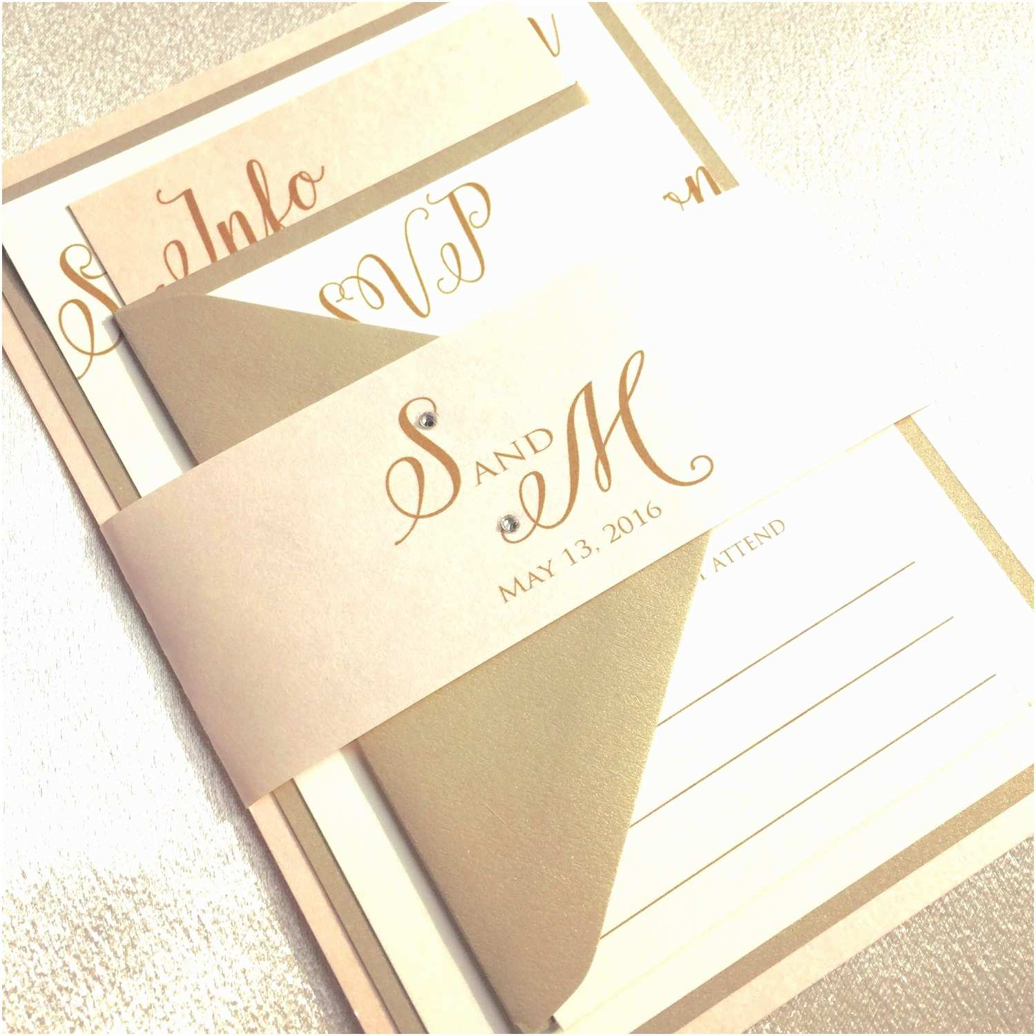 Blush and Gold Wedding Invitations Wedding Invitations Gold Wedding Invitation Blush and Gold