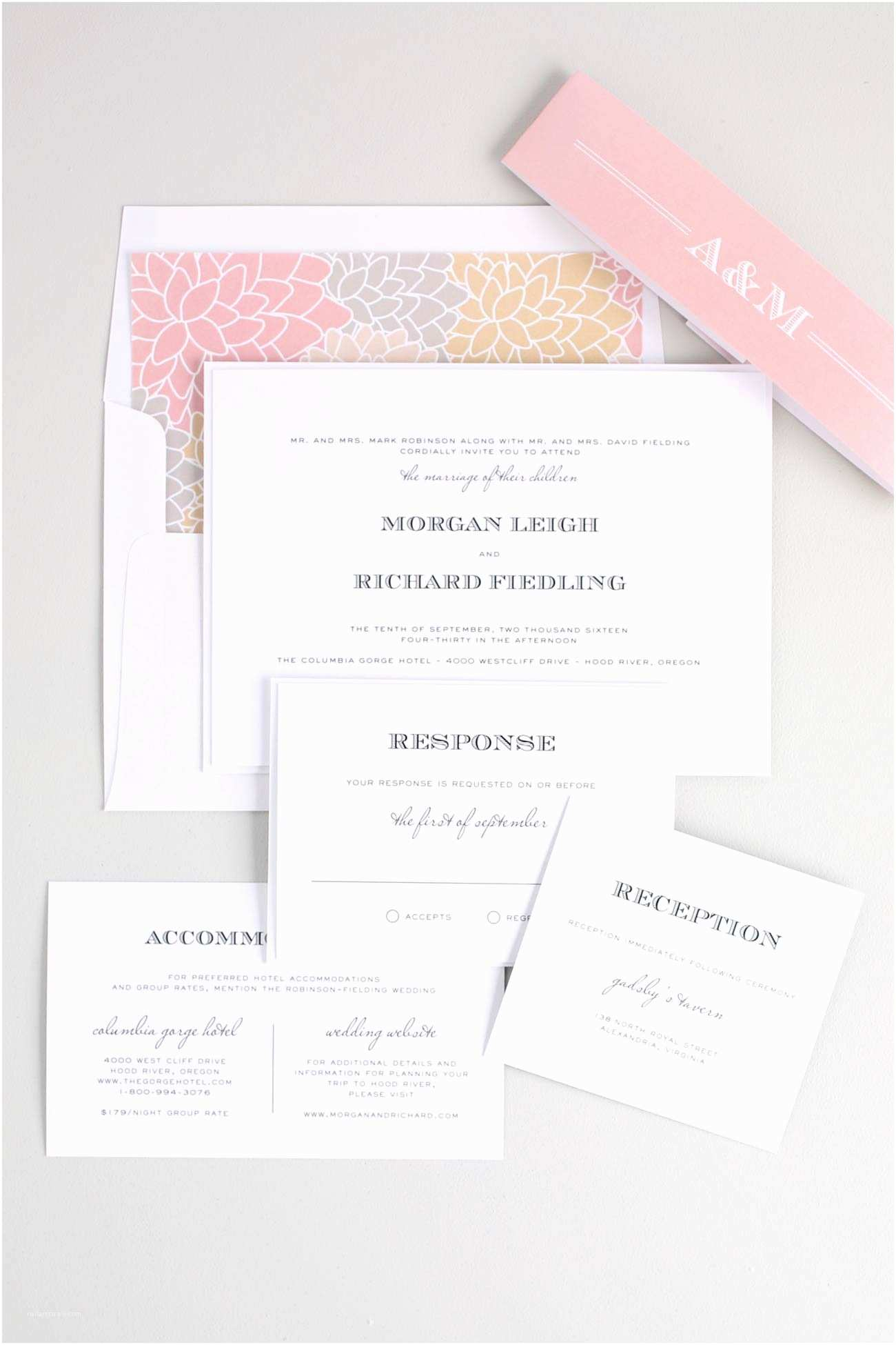 Blush Wedding Invitations Antique Wedding Invitations In Champagne and Blush