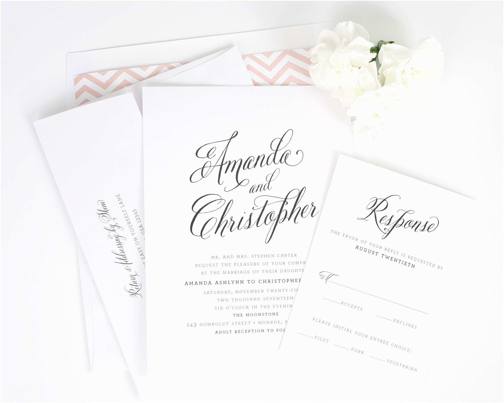 Blush Wedding Invitations Blush Gold Wedding Inspiration – Wedding Invitations