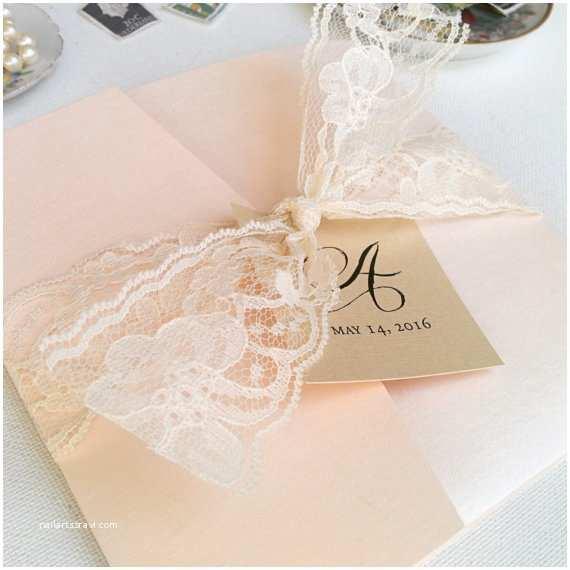 Blush Wedding Invitations Blush Wedding Invitations Lace Wedding Invite Vintage