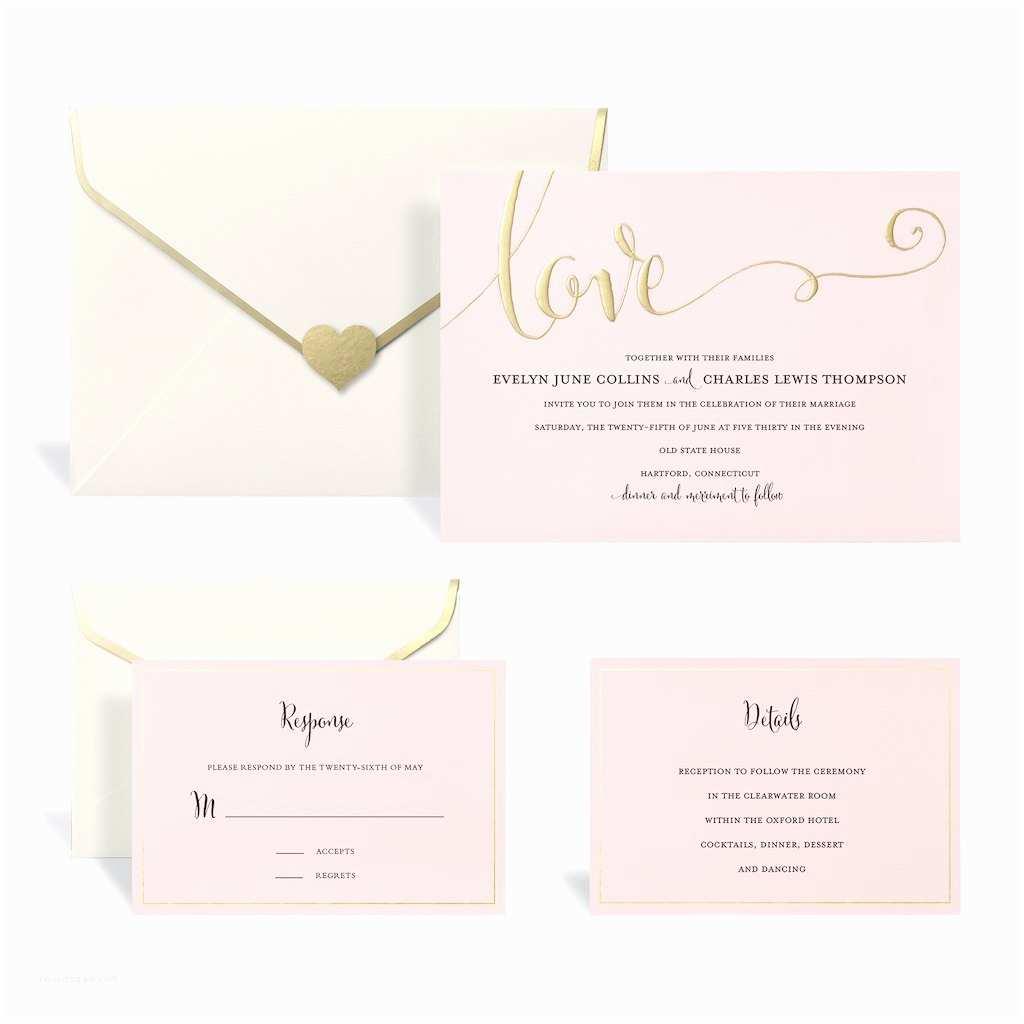 Blush Wedding Invitations Find the Gold & Blush Wedding Invitation Kit by Celebrate