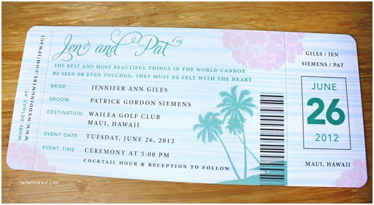Boarding Pass Wedding Invitations Wonderful Boarding Pass Wedding Invitations