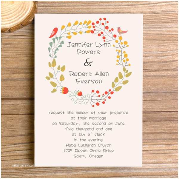 Bohemian Wedding Invitations top 10 Fall Wedding Invitations 2014 at