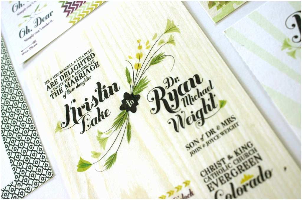Boho Wedding Invitations Bohemian Wood Wedding Invitations