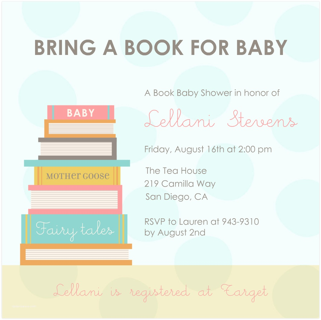 Book Baby Shower Invitations Book themed Baby Shower Inivtation
