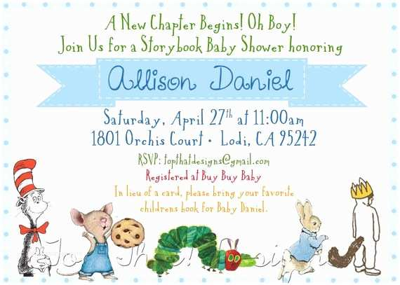Book themed Baby Shower Invitations Book themed Baby Shower Invitations