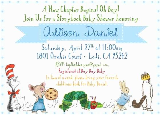 Book themed Baby Shower Invitations themed Baby Showers Invitations and Baby Showers On Pinterest
