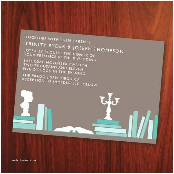 Book themed Wedding Invitations Book Wedding Invites