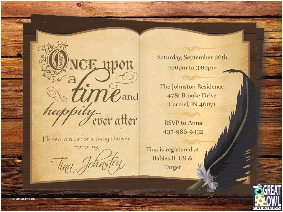 Book themed Wedding Invitations Lighting