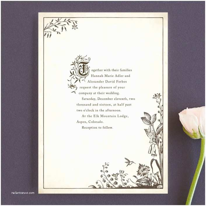 Book themed Wedding Invitations Literary Wedding Invitations for the Bookworms and the
