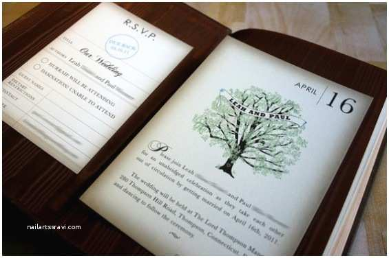 Book themed Wedding Invitations Wedding Invitation for Bookworms