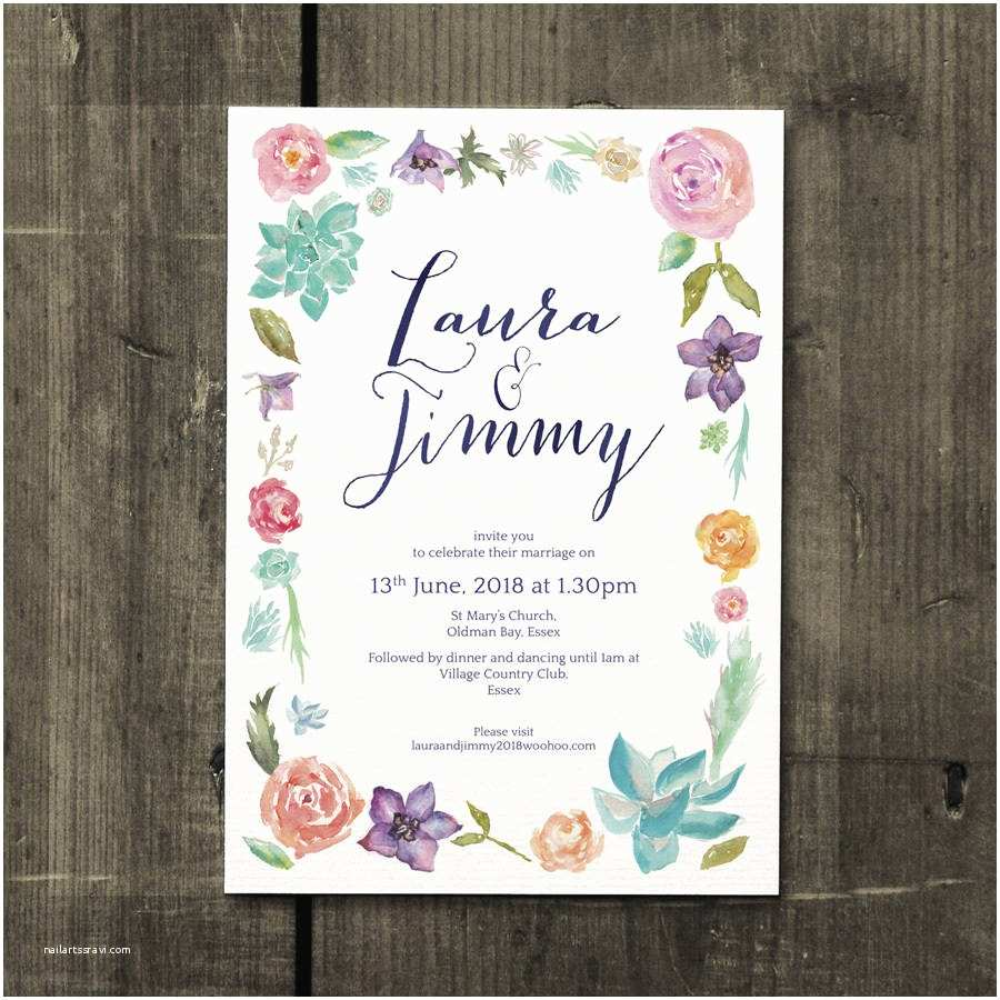 Botanical Wedding Invitations Botanical Beauty Wedding Invitation by Feel Good Wedding