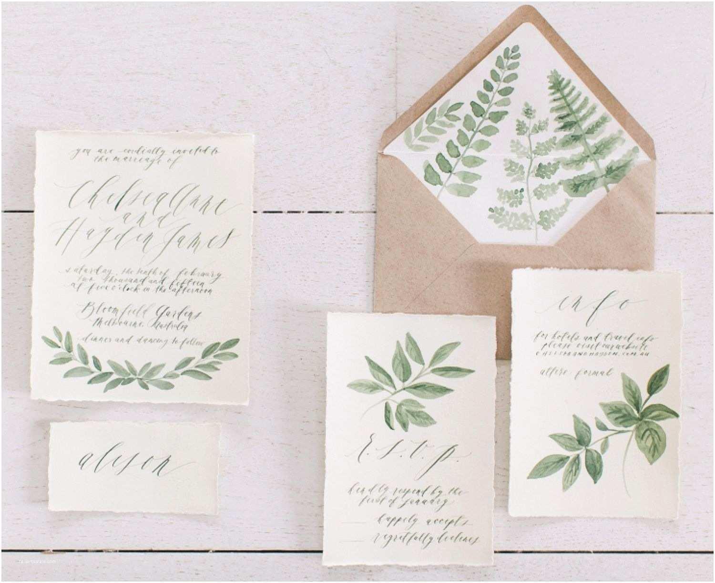 Botanical Wedding Invitations Botanical Illustrations Wedding Invitations by Written