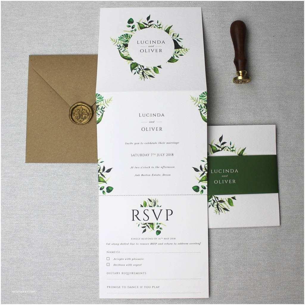 botanical wedding invitation suite