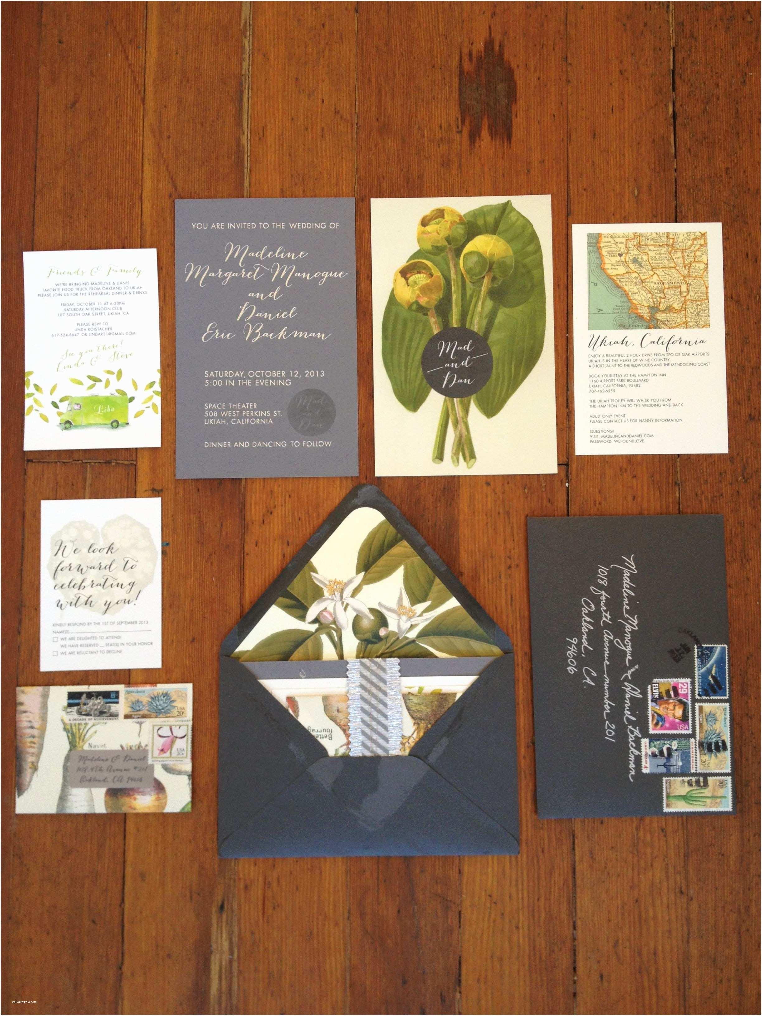 Botanical Wedding Invitations Vintage Botanical Wedding Invitations Featuring Vintage