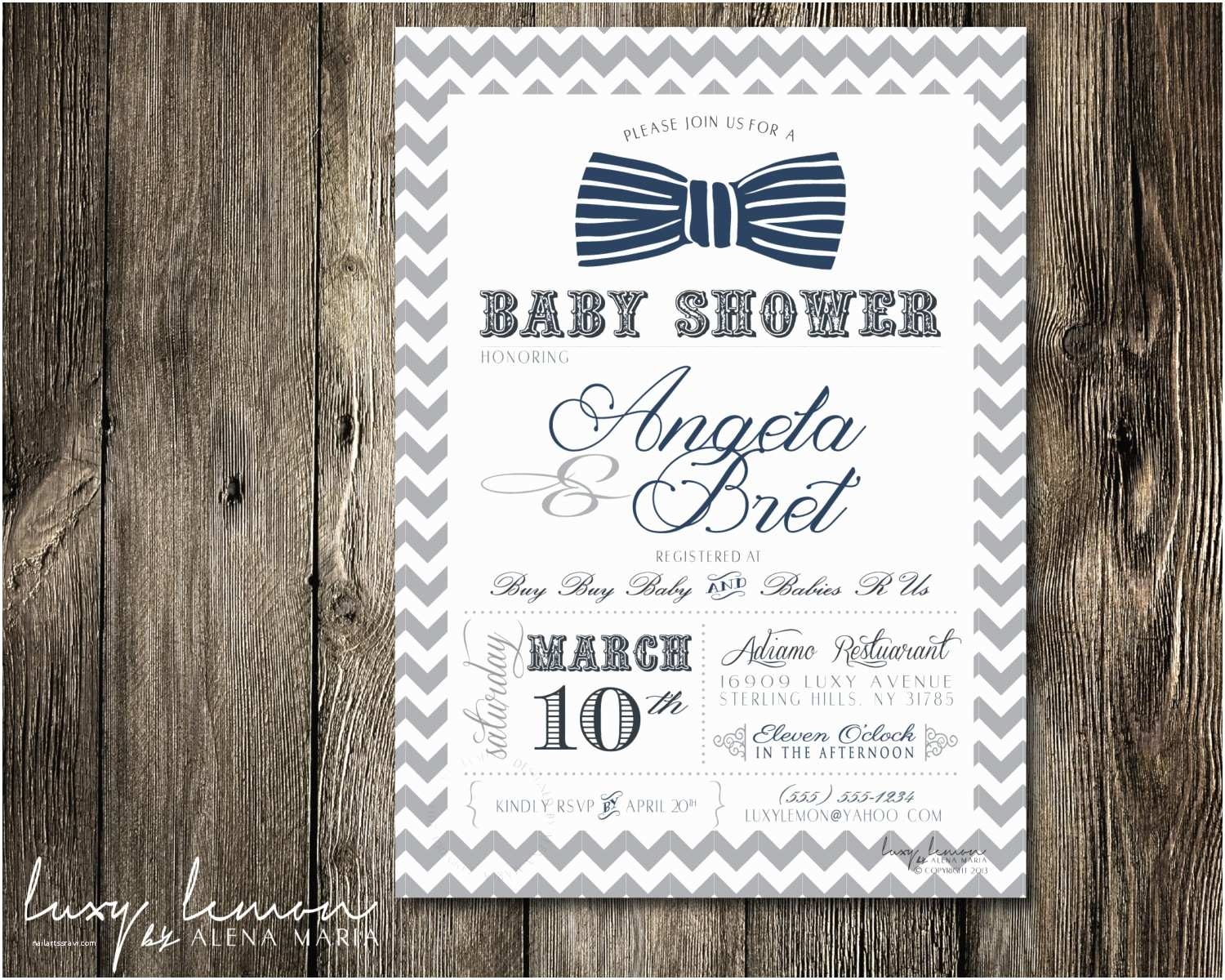 Bow Tie Baby Shower Invitations Request A Custom order and Have something Made Just for You