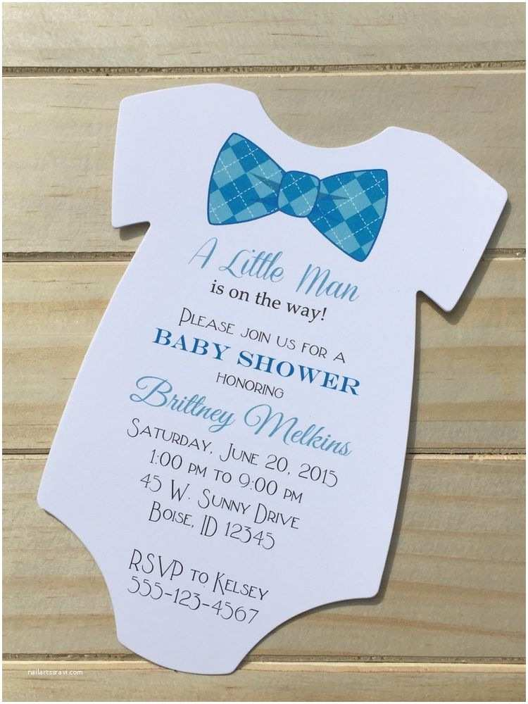 Bow Tie Baby Shower Invitations Set Of 20 Baby Shower Bow Tie Invitation Little Man Many