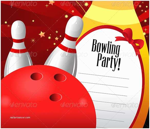 Bowling Birthday Invitations 24 Outstanding Bowling Invitation Templates & Designs