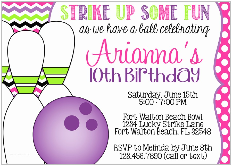 Bowling Birthday Invitations 8 Best Of Make Printable Invitations Bowling