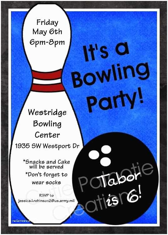 Bowling Birthday Invitations Bowling Birthday Party Invitations for Boys