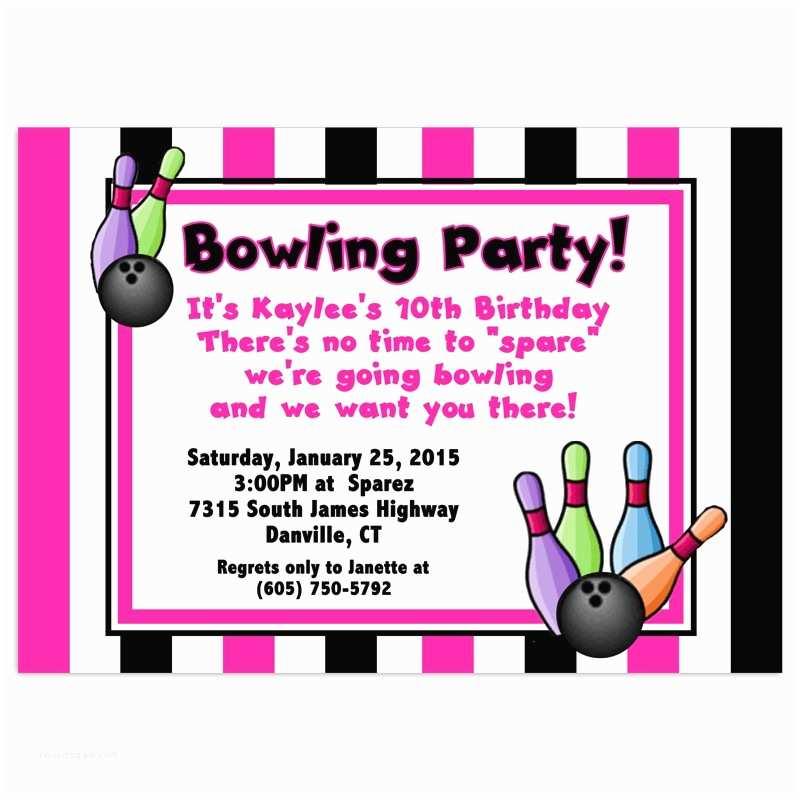 Bowling Birthday Invitations Free Bowling Birthday Party Invitations Template