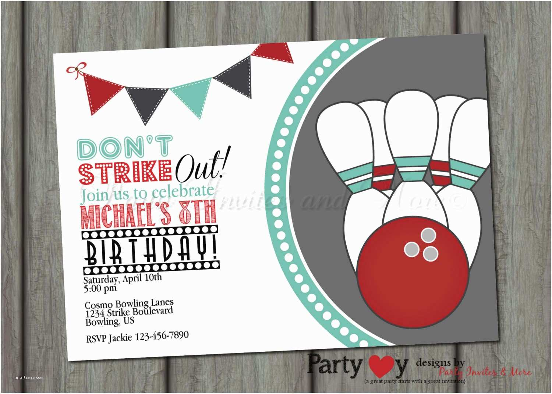Bowling Birthday Invitations Halloween Baby Shower Invites