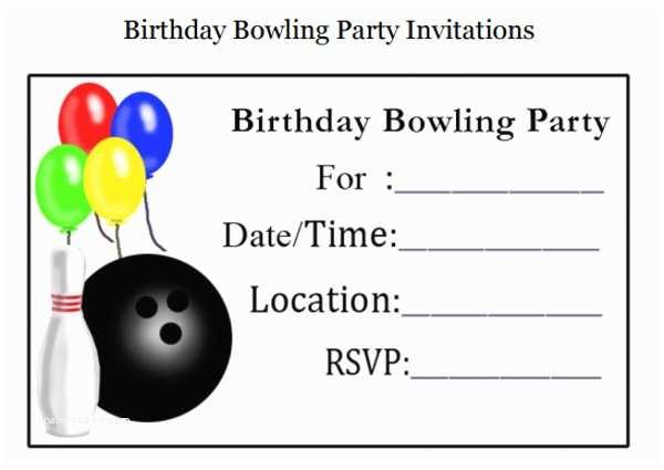 Bowling Birthday Party Invitations 10 Bowling Invitation Templates