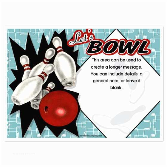 Bowling Birthday Party Invitations 7 Best Of Bowling Party Invitations Printable