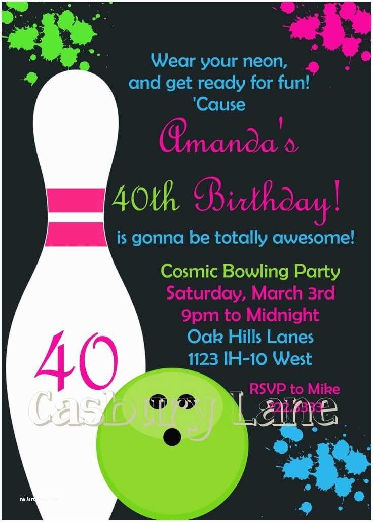 Bowling Birthday Party Invitations 9 Best Images About Bowling Party On Pinterest