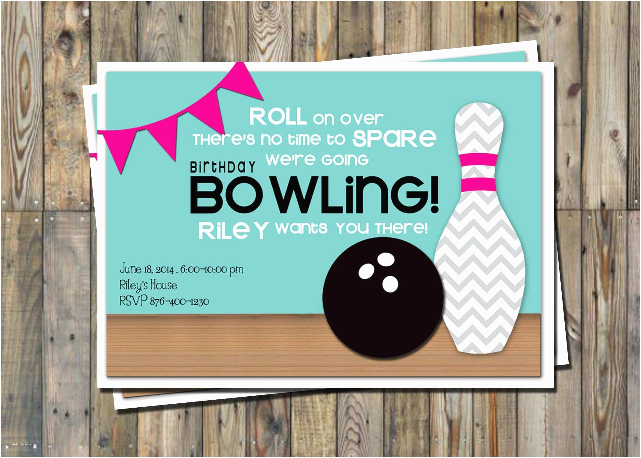 Bowling Birthday Party Invitations Cute Bowling Party Invitation Printable Party Pack From Pretty Perfect Party Ideas