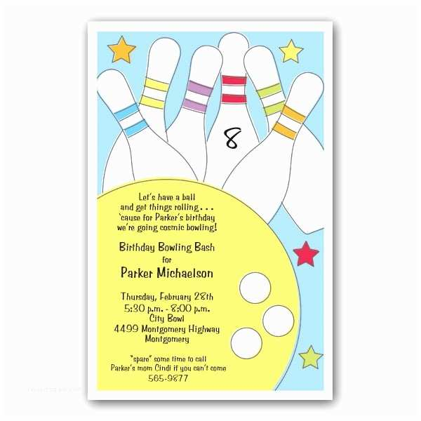 Bowling Birthday Party Invitations Invitation Wording Bowling Party