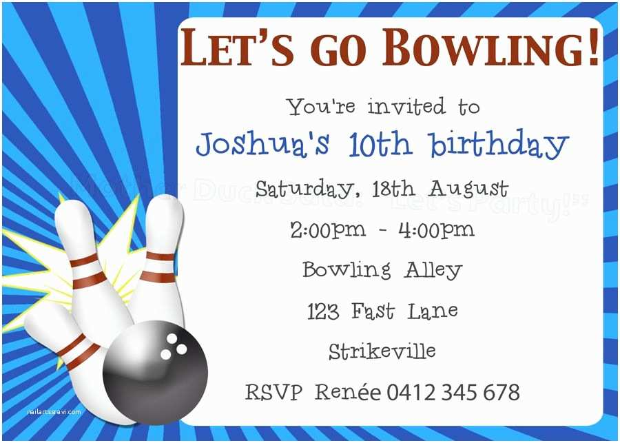 photograph regarding Free Printable Bowling Party Invitations named Bowling Birthday Occasion Invites No cost Printable Bowling