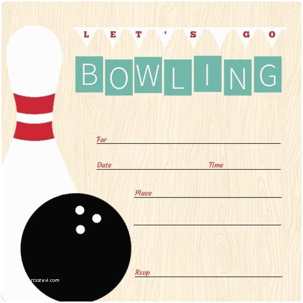 Bowling Birthday Party Invitations Vintage Turquoise Fill In the Blank Bowling Invitation