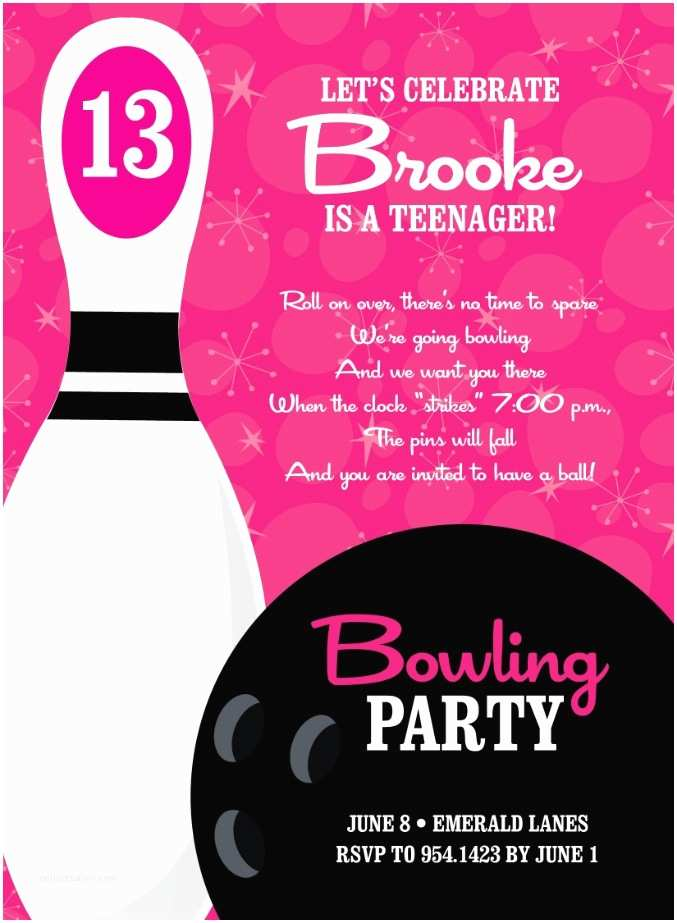 Bowling Party Invitations 19 Best Bowling Party Images On Pinterest