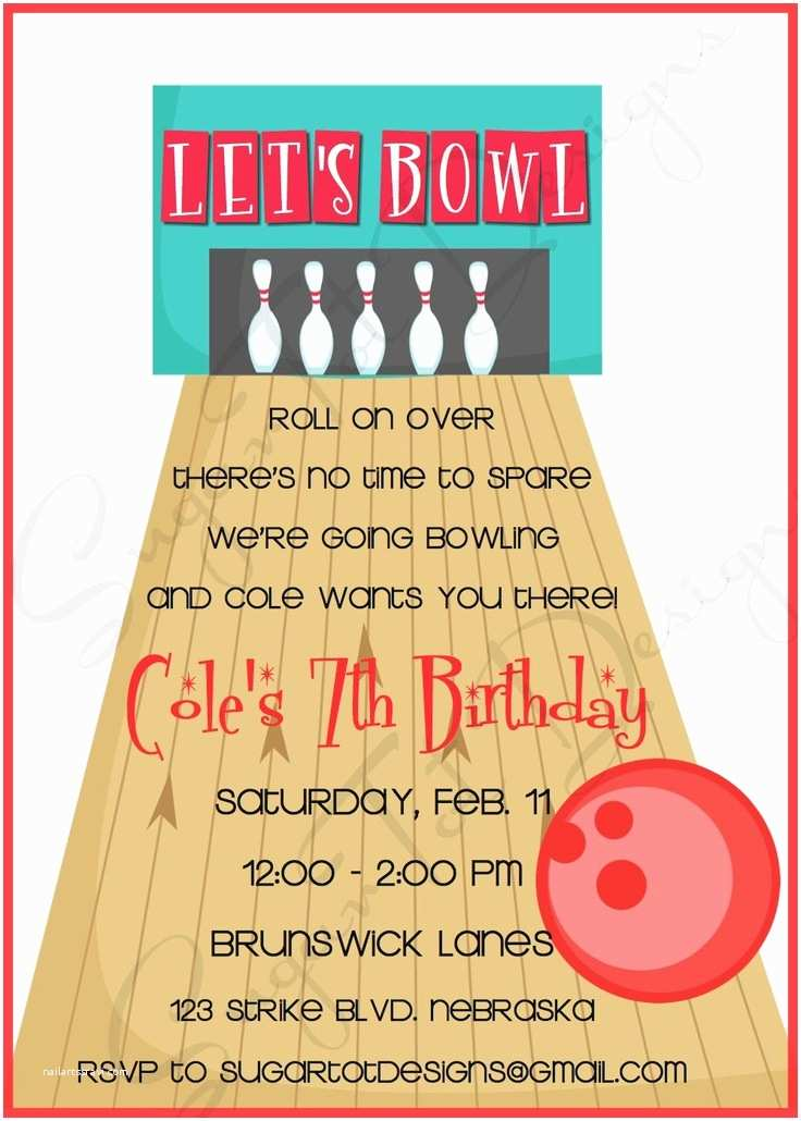 Bowling Party Invitations Bowling Party Invitation