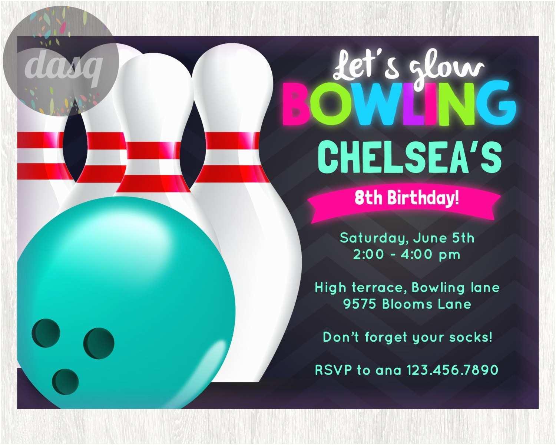 Bowling Party Invitations Free Printable Bowling Birthday Invitations