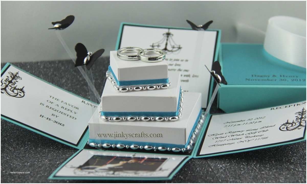 Box Wedding Invitations Jinky S Crafts & Designs Tiffany Inspired Invitation Box