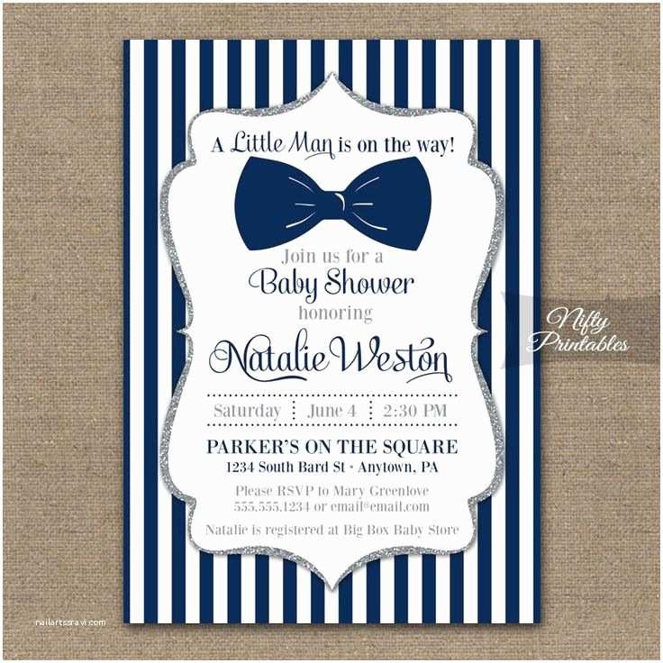 Boy Baby Shower Invitations 25 Best Ideas About Bowtie Baby Showers On Pinterest