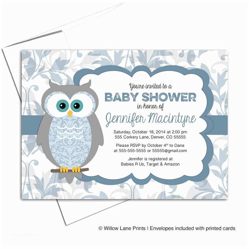 Boy Baby Shower Invitations Boy Baby Shower Invitations Owl