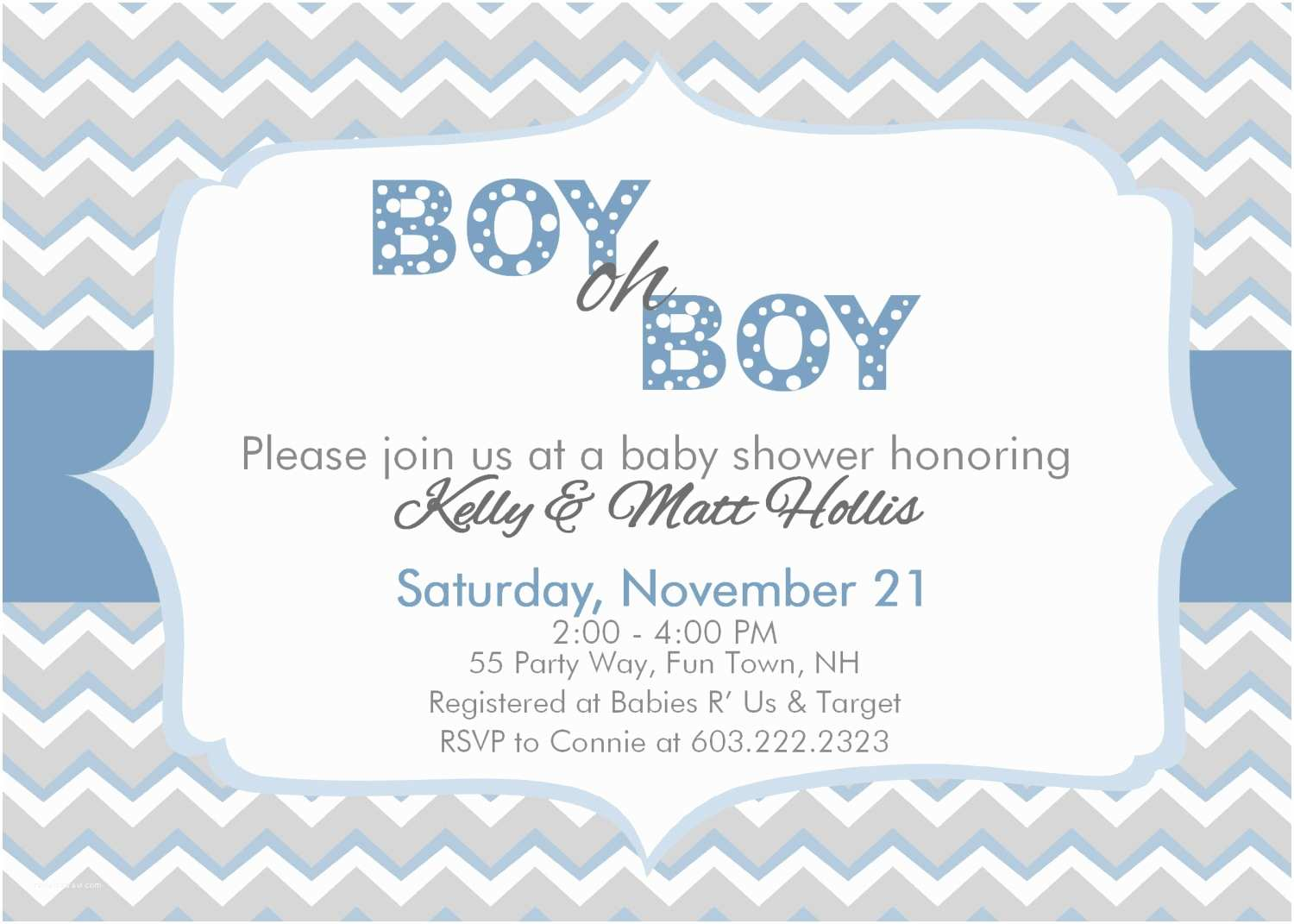 Boy Baby Shower Invitations Chevron Baby Shower Invitation Boy Chevron Boy Oh Boy Baby