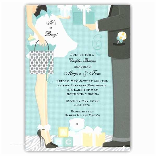 Boy Baby Shower Invitations Damask Bag Boy Baby Shower Invitations