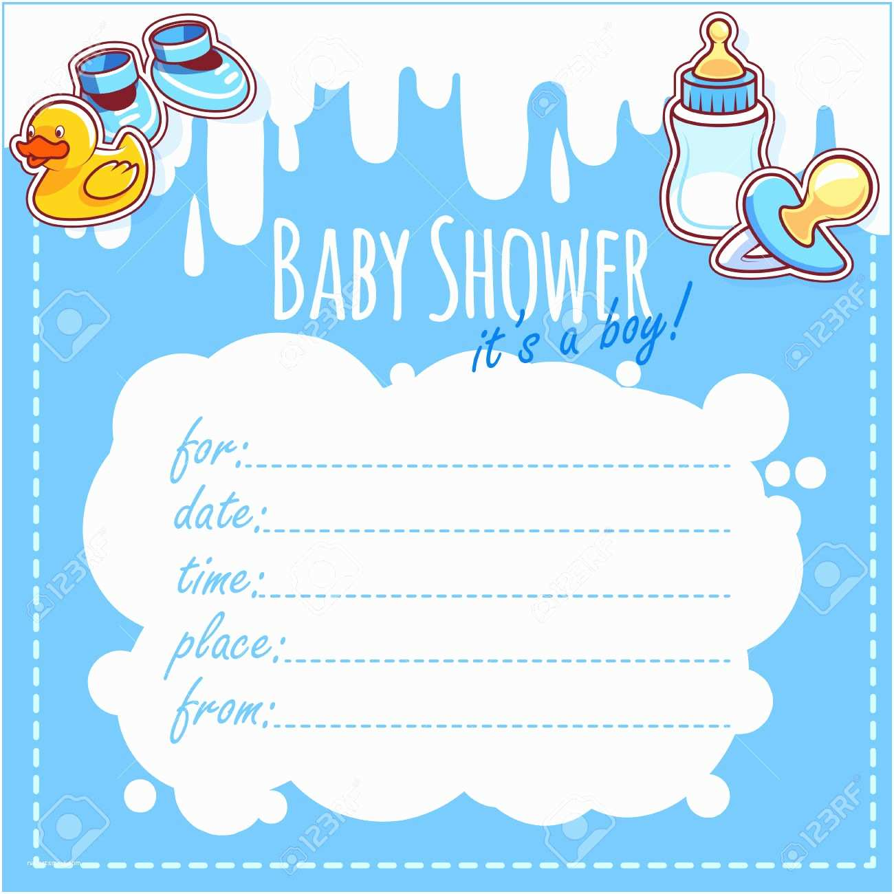Boy Baby Shower Invitations It S A Boy Invitations
