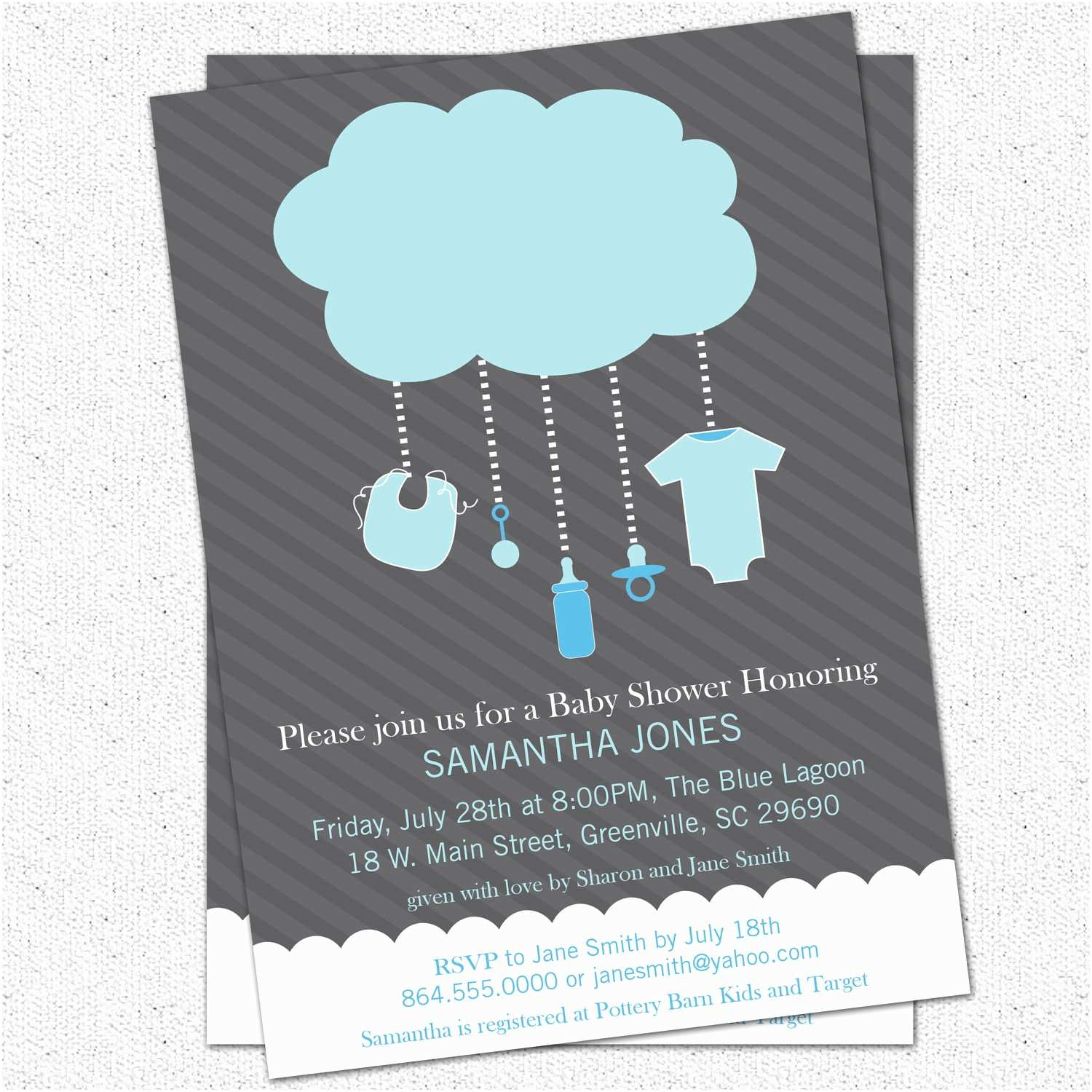 Boy Baby Shower Invitations Popular Items for Rain Image