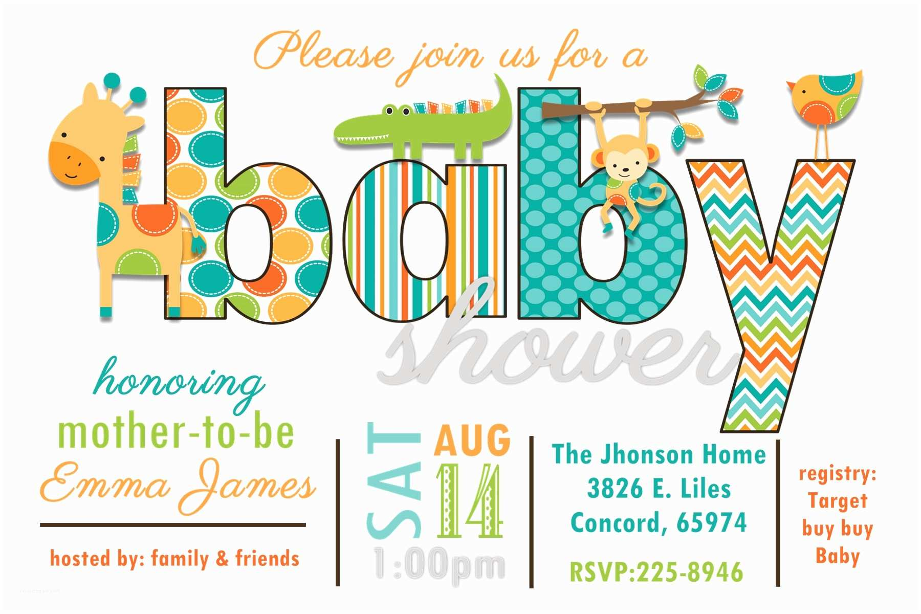 Boy Baby Shower Invites Baby Shower Invitation